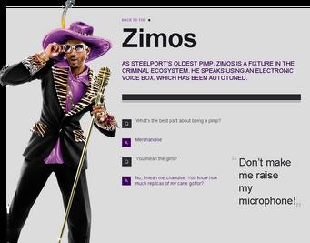 Saints Row website - Gangs - The Saints - Zimos