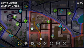 Southern Cross map in Saints Row