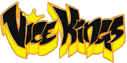 Vice Kings graffiti - black with yellow shadow