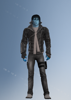 Matt Miller - blue - character model in Saints Row IV