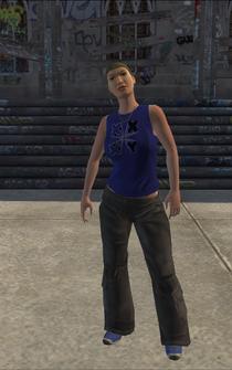 Westside Rollerz female Thug1-02 - white - character model in Saints Row