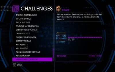 Challenge 61 Audio Logs Collected