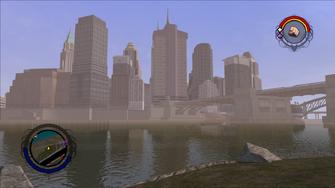 Downtown skyline in Saints Row