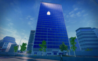 Union Square in Saints Row 2 - tall building