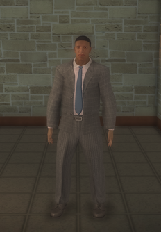 Business male - black - character model in Saints Row 2