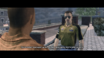 Demo Derby cutscene in Saints Row 2