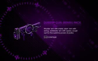 Saints Row IV - Dubstep Gun (Remix) Pack unlock screen
