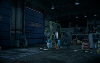 Saints Row IV - Rim Jobs interior - garage