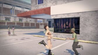 Streaking - Playa running to the right in Saints Row 2