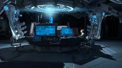 The Ship computer room interior