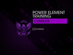Power Element Training Complete