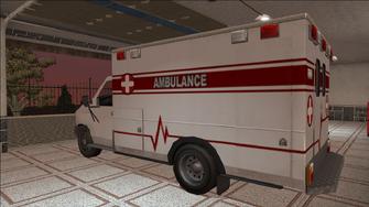 Saints Row variants - Ambulance - rear left