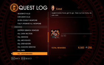 Gat out of Hell Challenge - Kill Legionnaires