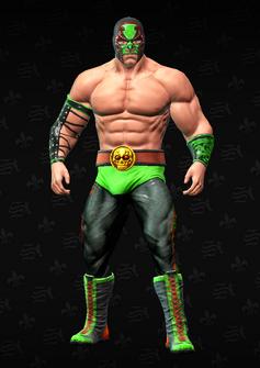 Killbane wrestling - character model in Saints Row The Third