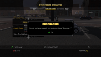 Foreign Power in Saints Row - not enough money