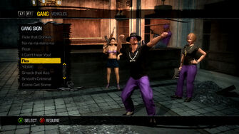 Gang Customization in Saints Row 2 - Gang Sign