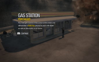 Gas Station in Frat Row purchased in Saints Row 2