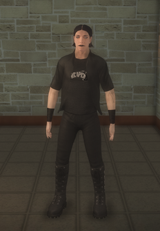 Goth male - white - character model in Saints Row 2