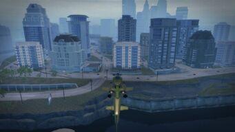 Tidal Spring - aerial view