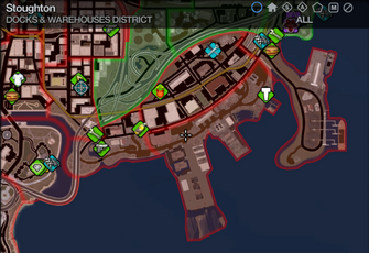 Map in Saints Row 2 - Docks & Warehouses - Stoughton
