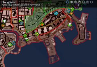 Map in Saints Row 2 - Docks & Warehouses - Stoughton