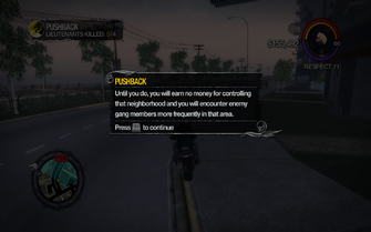 Pushback tutorial in Saints Row 2 - no money earned