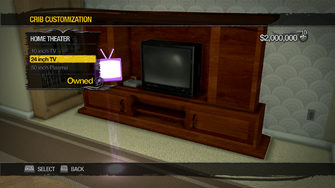 Saints Row Mega Condo - Crib Customization - Home Theater - 24 inch TV