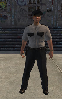 Security - white - character model in Saints Row