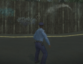 Flashbang being thrown in Saints Row 2