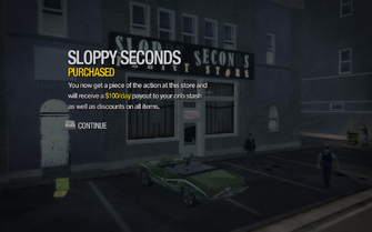 Sloppy Seconds in Sunnyvale Gardens purchased in Saints Row 2