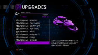 Upgrades menu in Saints Row IV - Page 6 of Gang Abilities