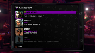 Assassination menu in Saints Row The Third