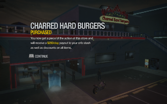 Charred Hard Burgers in Stilwater Boardwalk purchased in Saints Row 2