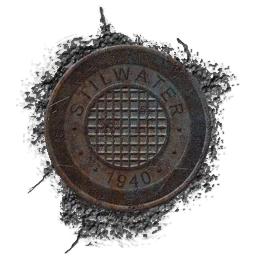 Old Stilwater manhole cover texture