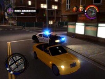 Reclamation - police pursuing Zomkah