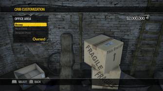 Red Light Loft - Crib Customization - Office Area - Boxes