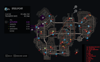 Side Quests - Activities map