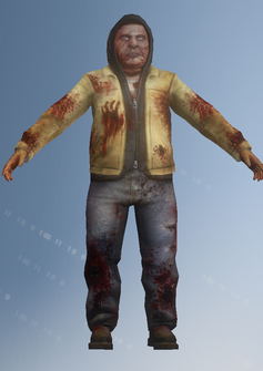 Zombie 02 - Clinton - character model in Saints Row IV