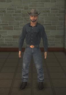 Cowboy - strong beard - character model in Saints Row 2