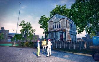 Frat Row in Saints Row 2 - Robot House