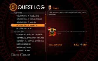 Gat out of Hell Challenge - Gold Medals in Salvation