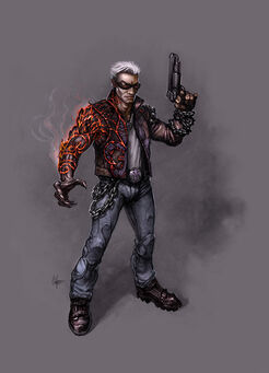 Johnny Gat Concept Art - Gat out of Hell - demon arm