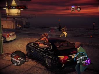 Psychosomatic - Kill Guards objective - Shaundi shooting from vehicle