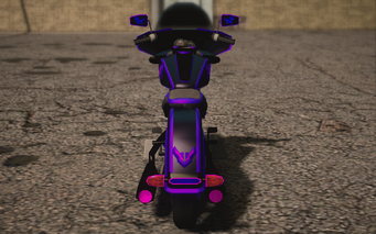 Saints Row IV variants - Cyber Estrada Chopshop - rear