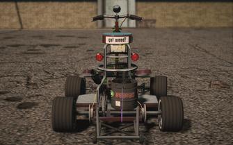 Saints Row IV variants - Shayne's Barstool Racer - rear