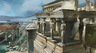 Amberbrook - Greek ruins concept art