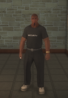 Bouncer - black - character model in Saints Row 2