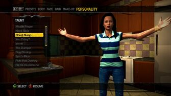 Character Customisation - Taunts in Saints Row 2