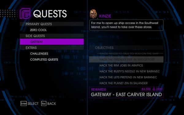 Quests Menu - Gateway