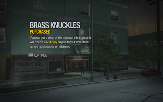 Brass Knuckles in Ezpata purchased in Saints Row 2